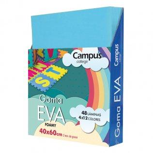 Goma Eva Campus College 40x60 2mm Azul cielo.