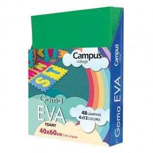 Goma Eva Campus College 40x60 2mm Verde oscuro.