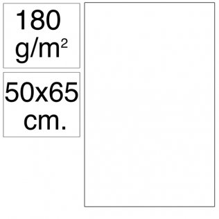 Cartulina Campus 50x65 cm 180 gr blanca