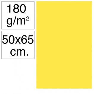 Cartulina Campus 50x65 cm 180 gr amarillo canario