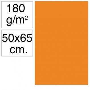 Cartulina Campus 50x65 cm 180 gr naranja