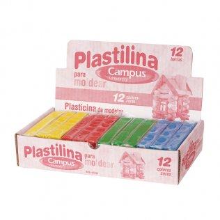 Plastilina Campus College 200gr 12 unid 4 colores