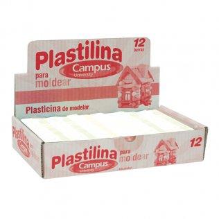 Plastilina Campus College 200gr 12 unid Blanco