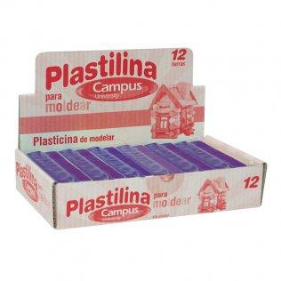 Plastilina Campus College 200gr 12 unid Violeta