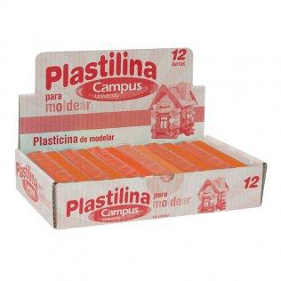 Plastilina Campus College 200gr 12 unid Naranja