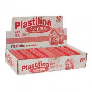 Plastilina Campus College 200gr 12 unid Rojo