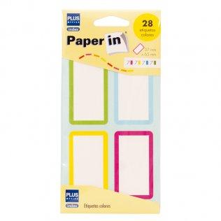 Etiquetas adhesivas de color para libros 37x65mm 42ud Plus Office