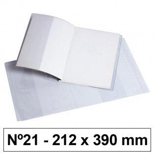 Forro libros hecho PVC nº21 212x390mm 120 micras