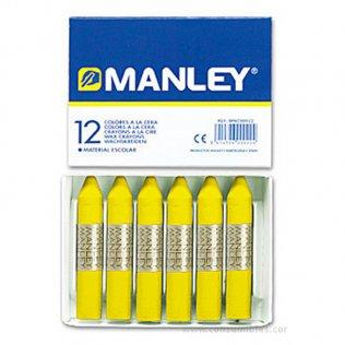 Ceras Manley amarillo limón 12 unid