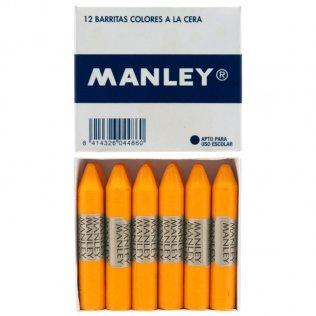 Ceras Manley amarillo oscuro 12 unid