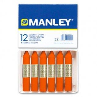 Ceras Manley naranja 12 unid