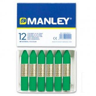 Ceras Manley verde natural 12 unid