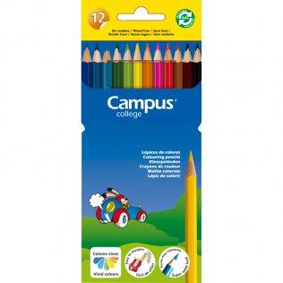 Lápices Campus de resina 12 colores