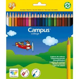 Lápices Campus de resina 24 colores