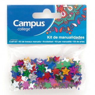 Set manualidades Campus College estrellas purpurina 11mm