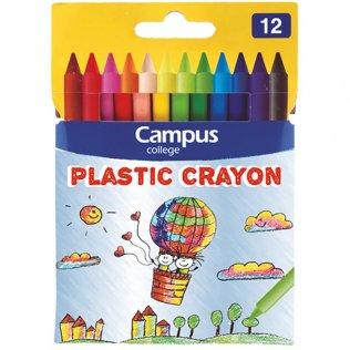 Ceras Campus Plastic Crayon 12 colores