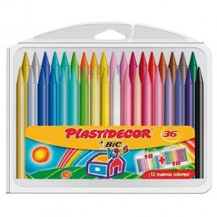 Lápices de cera PLASTIDECOR 36 unid