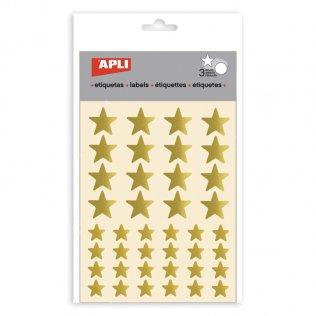 Gomets estrellas metalizadas Apli ORO - 120 unid