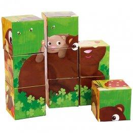 Goula Puzzle 9 cubos Animales del Bosque