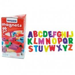 Miniland Letras Magnéticas Mayúsculas (76 piezas)