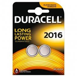 Pila Duracell botón CR2016 2 unid