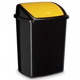 Papelera tapa basculante 50 litros amarilla