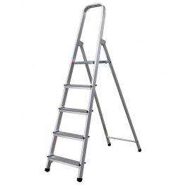 Escalera de aluminio 5 peldaños 113 cm