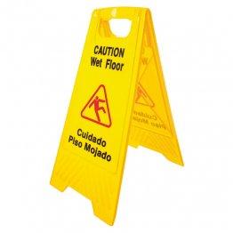 Señal de peligro \u0022Cuidado piso mojado\u0022