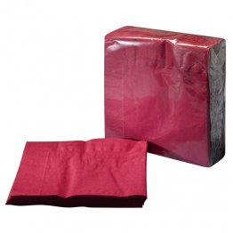Servilleta de papel color burdeos 33x33cm Pack 100 unid