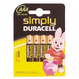 Pila Duracell alcalinas LR03 AAA