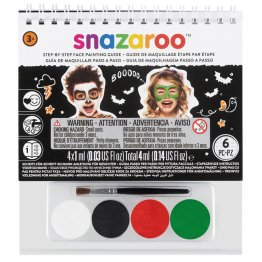 "Maquillaje paso a paso Snazaroo ""Halloween;"" 4 colores"