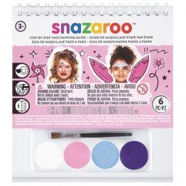 """Maquillaje paso a paso Snazaroo """"Niña"""" 4 colores"""