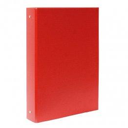 Carpeta Plus Office cartón forrado Fº 4 anillas 40mm Rojo