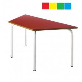 Mesa infantil trapezoidal 120x60x60 Altura: 46cm Acero
