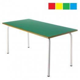Mesa infantil rectangular 120x60x60cm Altura: 52cm Acero