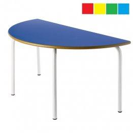Mesa infantil semicircular 120x60cm Altura: 46cm Acero