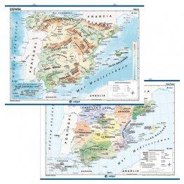 Mapa Mural 140x100cm España Fisic/Pol