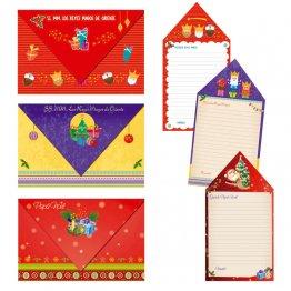 Carta Reyes Magos y Papá Noel Paquete 50 unid 3 modelos