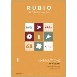 Cuaderno Rubio Matematica Evolution 1 10 unidades