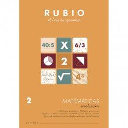 Cuaderno Rubio Matematica Evolution 2 10 unidades