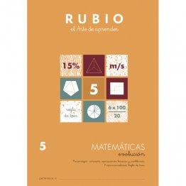 Cuaderno Rubio Matematica Evolution 5 10 unidades