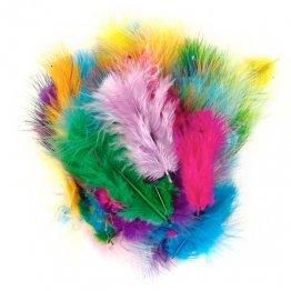 Plumas Indio 6 Colores Surtidos /50 Unidades