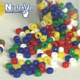Abalorios Plastico 5 Colores Opacos / 300 Unidades