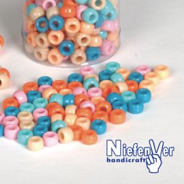 Abalorios Plastico 5 Colores Pastel / 300 Unidades