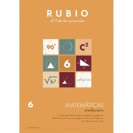 Cuaderno Rubio Matematica Evolution 6 10 unidades