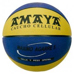 Balon Basket Amaya Nº7 Caucho Bicolor