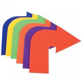 Pieza Caucho Flechas curvas / 6 unidades