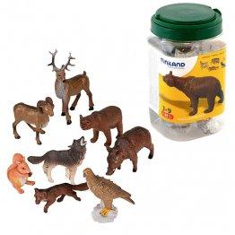 Figuras Miniland Animales Bosque/80 unidades