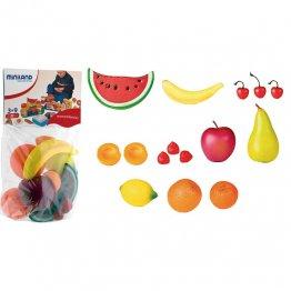 Figuras Miniland Frutas / bolsa 15 unidades
