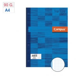 Recambio A4 80h 90gr Cuad. 5 mm banda azul
